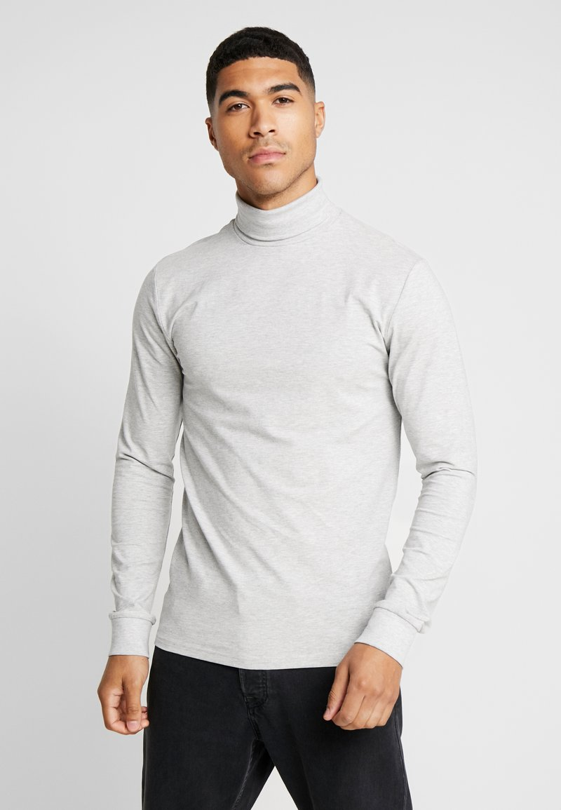 Only & Sons - ONSESSAY ROLLNECK TEE - Long sleeved top - light grey melange