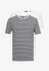 Only & Sons - ONSJAMIE STRIPE TEE 2 PACK - T-shirt z nadrukiem - white - 4