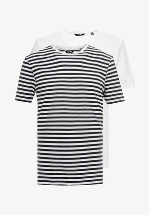 ONSJAMIE STRIPE TEE 2 PACK - Basic T-shirt - white