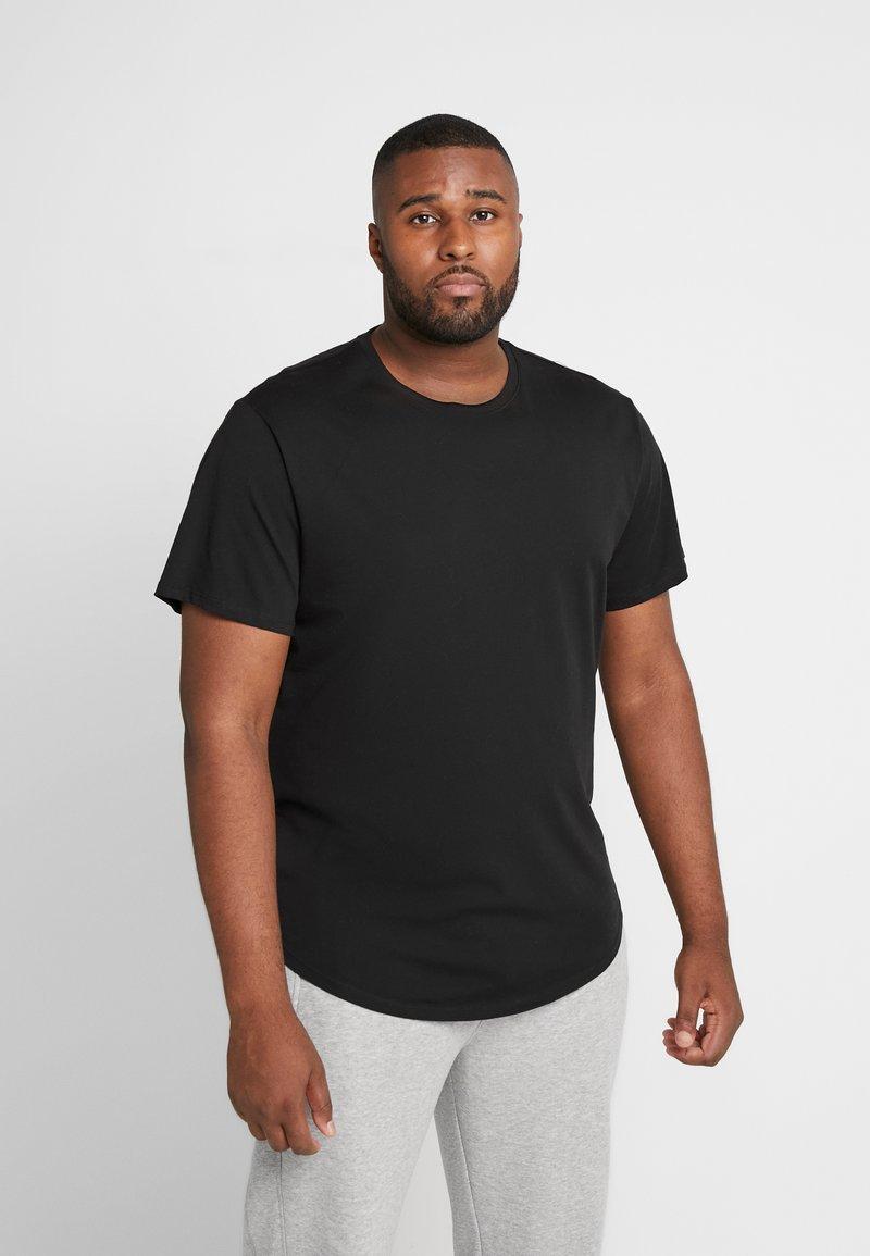 Only & Sons - ONSMATT LONGY TEE 2 PACK - Jednoduché triko - black