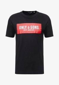 Only & Sons - ONSNORMIE TEE - T-shirts med print - black - 4
