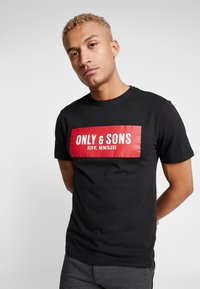 Only & Sons - ONSNORMIE TEE - T-shirts med print - black - 3