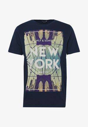 ONSCALM SLIM  - T-shirt print - dress blues
