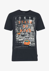 Only & Sons - ONSCALM SLIM  - Printtipaita - black - 3