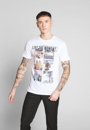 ONSCAM SLIM TEE - T-shirt print - white
