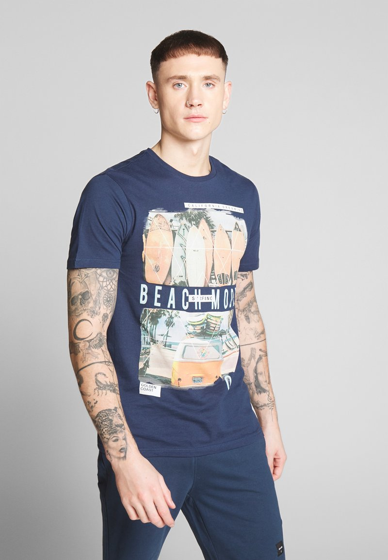 Only & Sons - ONSCAM SLIM TEE - T-shirt print - dress blues