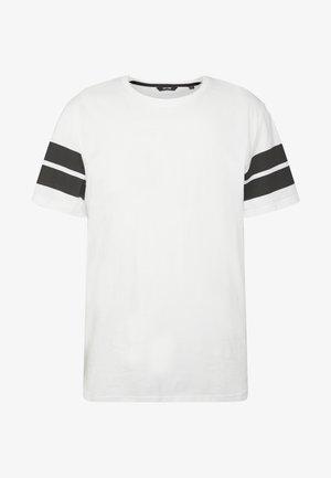 ONSMATTY LONGY TEE - T-shirt z nadrukiem - white