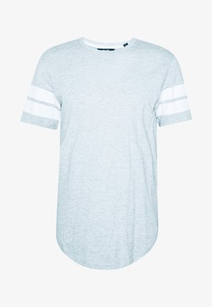 ONSMATTY LONGY TEE - T-shirt print - light grey