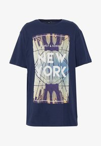 Only & Sons - ONSCALM TEE - Printtipaita - dress blues - 3