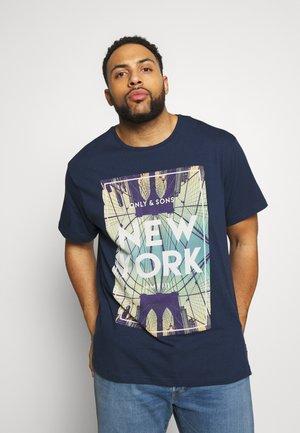 ONSCALM TEE - T-shirt print - dress blues