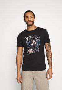 Only & Sons - ONSMOVE SLIM TEE - T-shirt print - black - 0