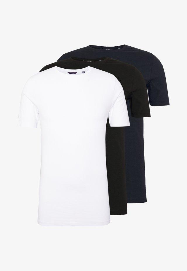 ONSMUSCLE FIT TEE 3 PACK - T-paita - black/white
