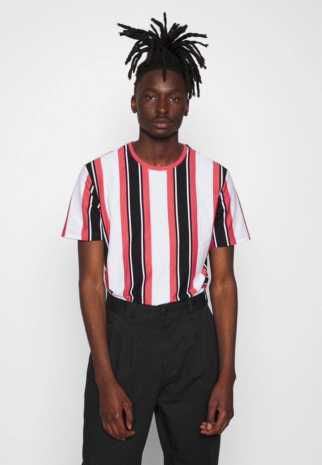 ONSRIS STRIPE TEE - T-Shirt print - cranberry