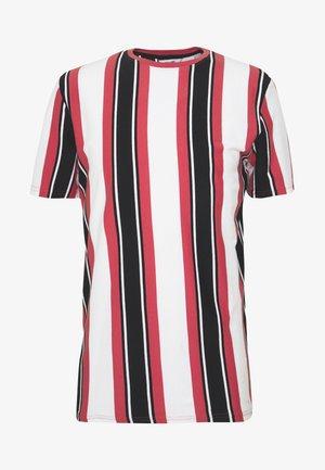 ONSRIS STRIPE TEE - T-shirt imprimé - cranberry