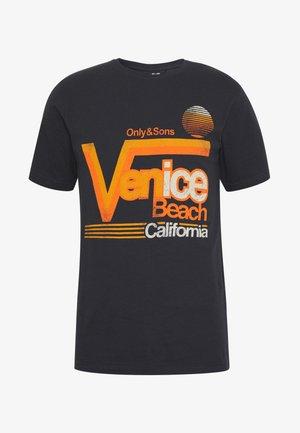 ONSCALI SLIM TEE - Print T-shirt - dark navy