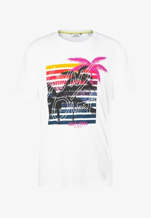 ONSKUBA REGULAR TEE - Camiseta estampada - bright white