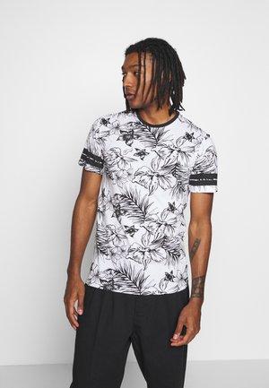 ONSKAFKA SLIM TEE - T-shirt med print - bright white