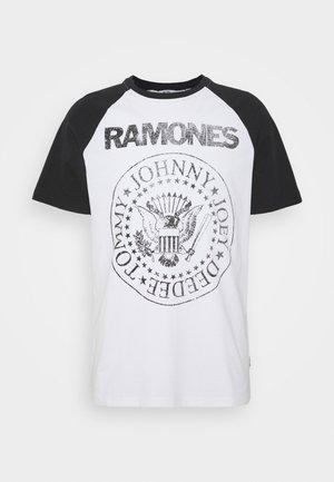 ONSRAMONES FRONT PRINT TEE - Print T-shirt - white