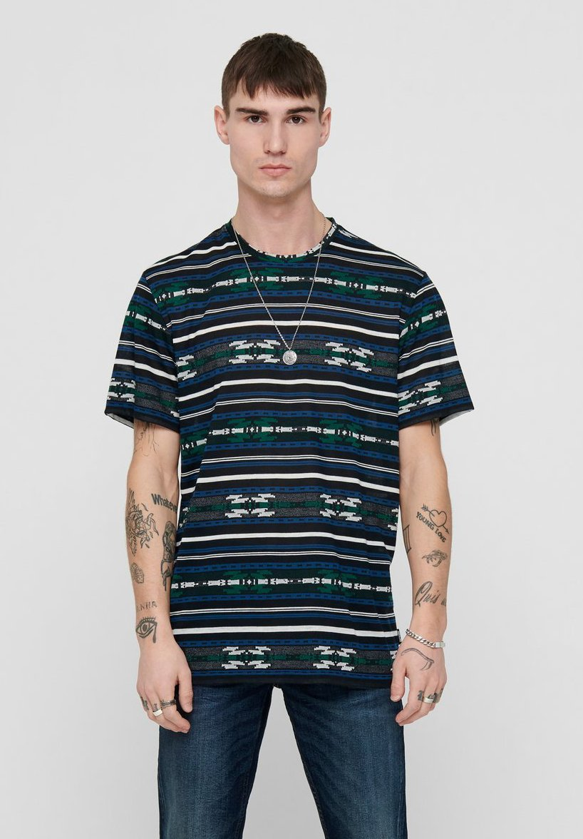 Only & Sons T-shirt z nadrukiem - dark navy