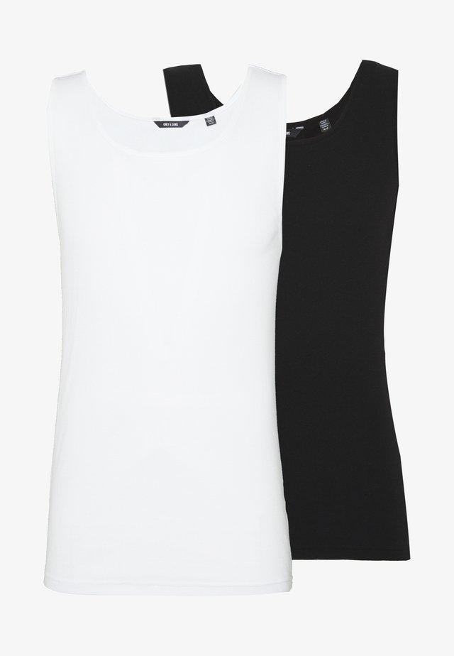 ONSNATE TANK 2 PACK - Top - black/white