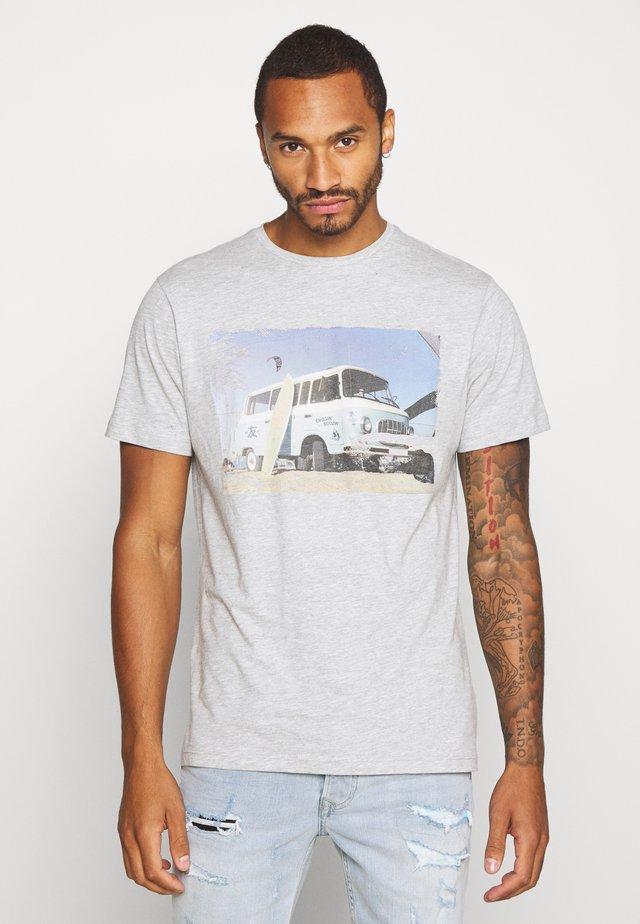 ONSILO TEE - T-Shirt print - light grey