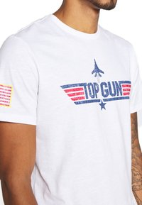 Only & Sons - ONSTOPGUN TEE - Print T-shirt - bright white - 5