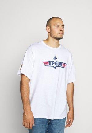 ONSTOPGUN TEE PLUS - Print T-shirt - bright white