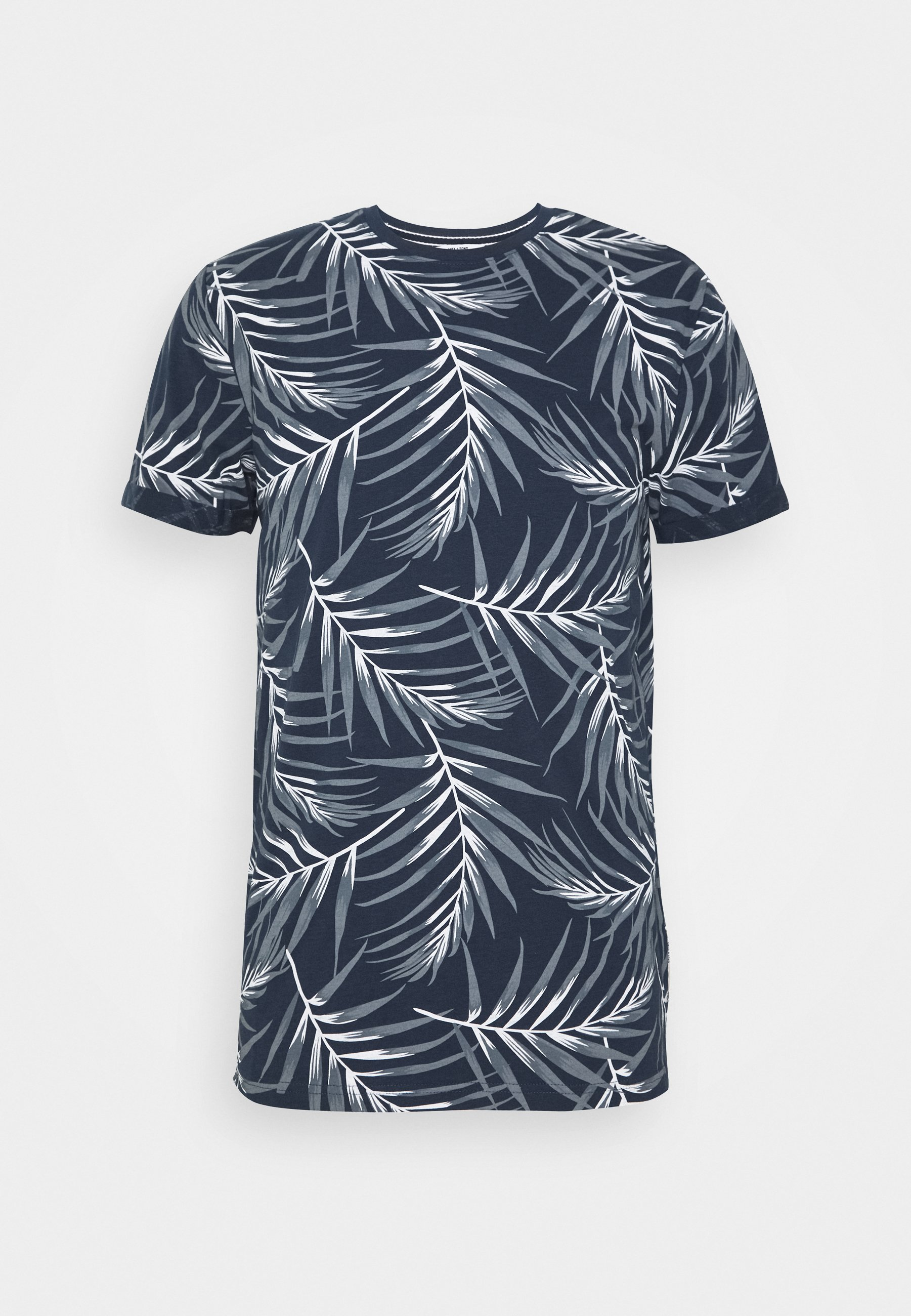 Only & Sons ONSIASON SLIM TEE - T-shirt z nadrukiem - blue