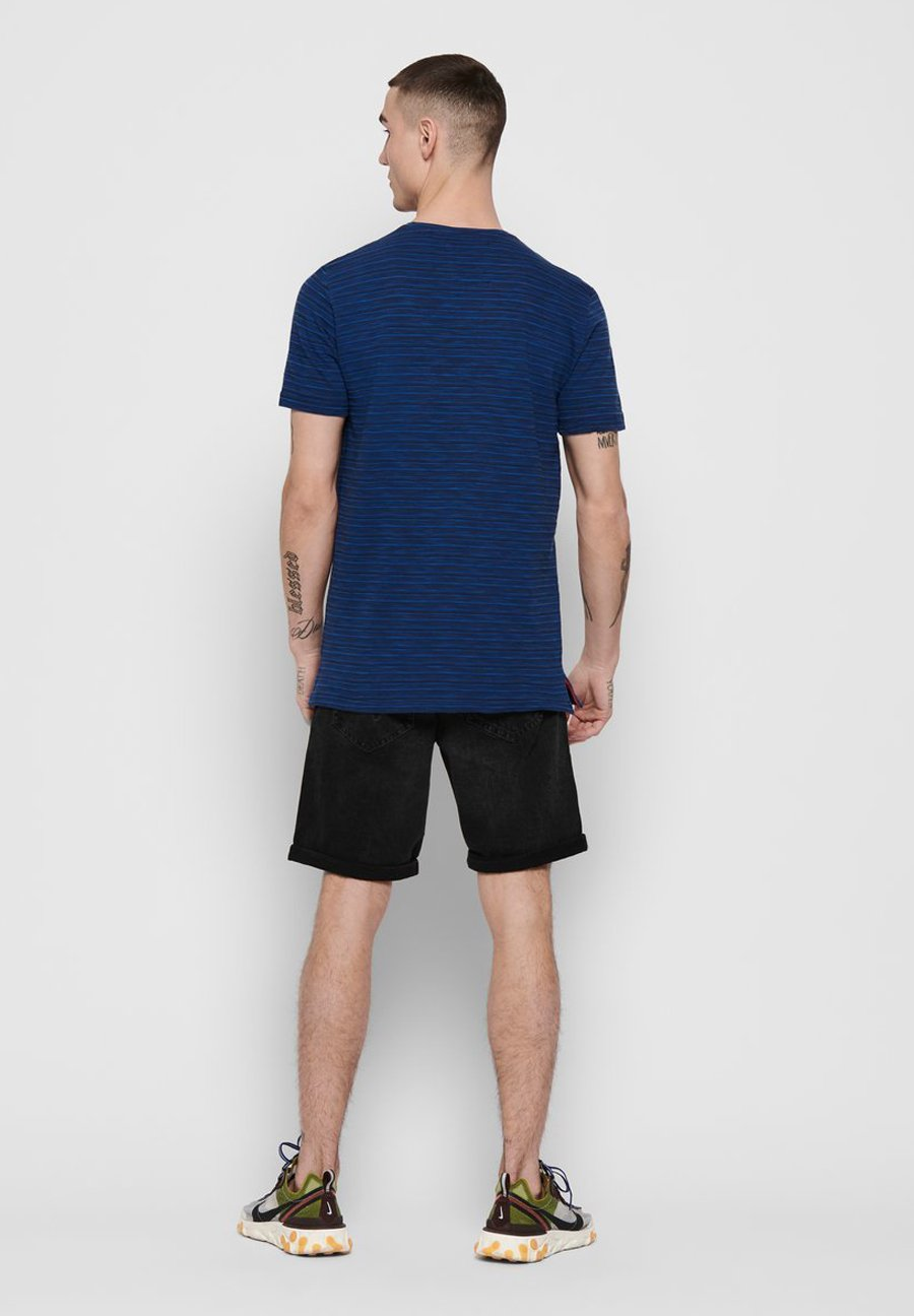 Only & Sons T-shirt Slim Fit - Print Dress Blues