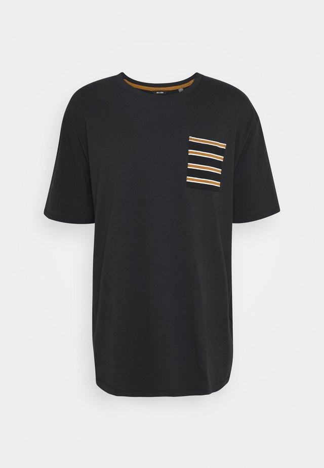 ONSMELTIN LIFE POCKET TEE - T-Shirt print - black