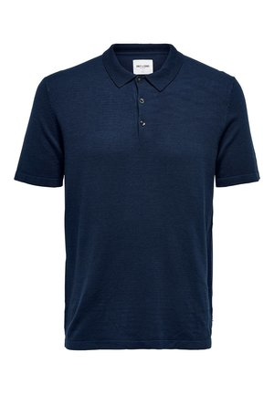 ONLY & SONS POLOSHIRT EINFARBIGES - Polo shirt - dress blues