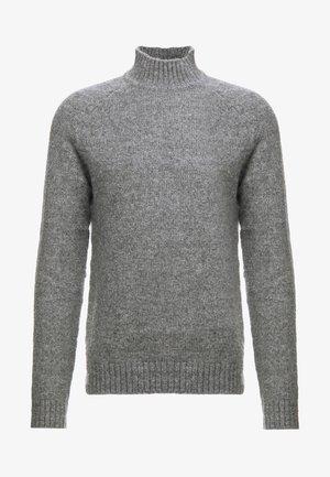 ONS PATRICK HIGH NECK - Strikkegenser - medium grey melange