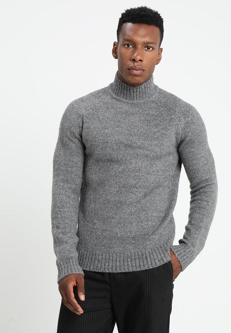 Only & Sons - ONS PATRICK HIGH NECK - Jersey de punto - medium grey melange