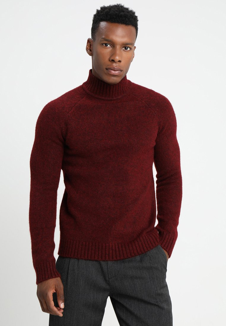 Only & Sons - ONS PATRICK HIGH NECK - Trui - cabernet
