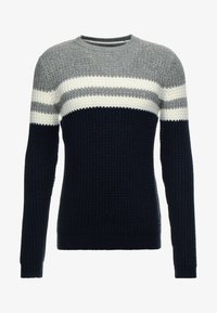 Only & Sons - ONSLAZLO STRIPED CREW NECK - Sweter - blue nights - 5