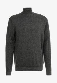 dark grey melange/solid