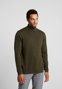 Only & Sons - ONSALEX  ROLL NECK - Pullover - forest night - 0