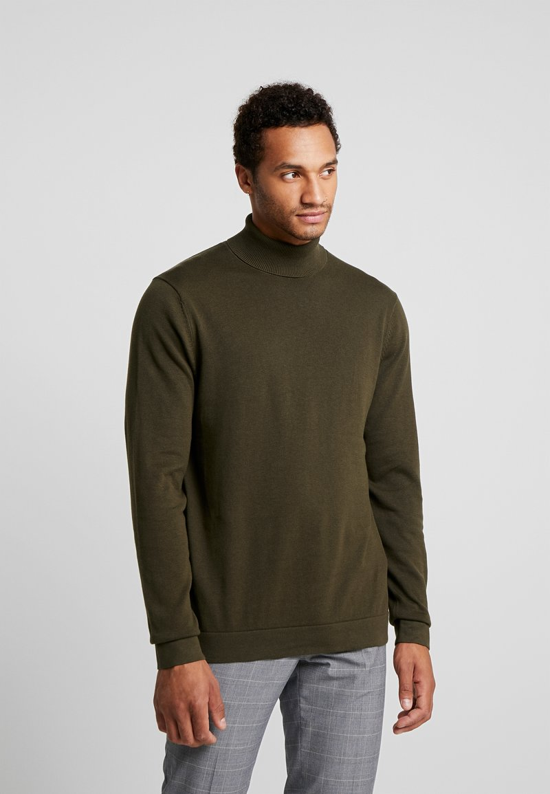 Only & Sons - ONSALEX  ROLL NECK - Pullover - forest night