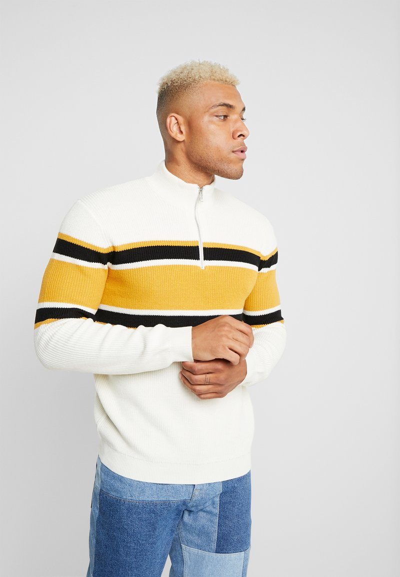 Only & Sons - ONSWALKER STRIPED HALF ZIP  - Maglione - black