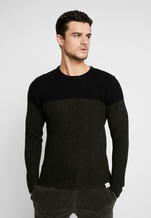 ONSSATO COLORBLOCK CREW NECK  - Strikkegenser - rosin