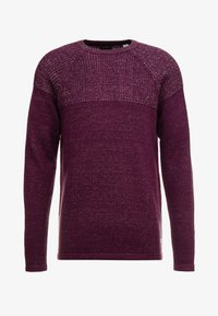 Only & Sons - ONSPEER PLATED CREW NECK - Trui - zinfandel - 4