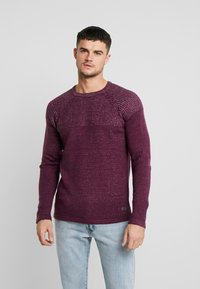 Only & Sons - ONSPEER PLATED CREW NECK - Trui - zinfandel - 0