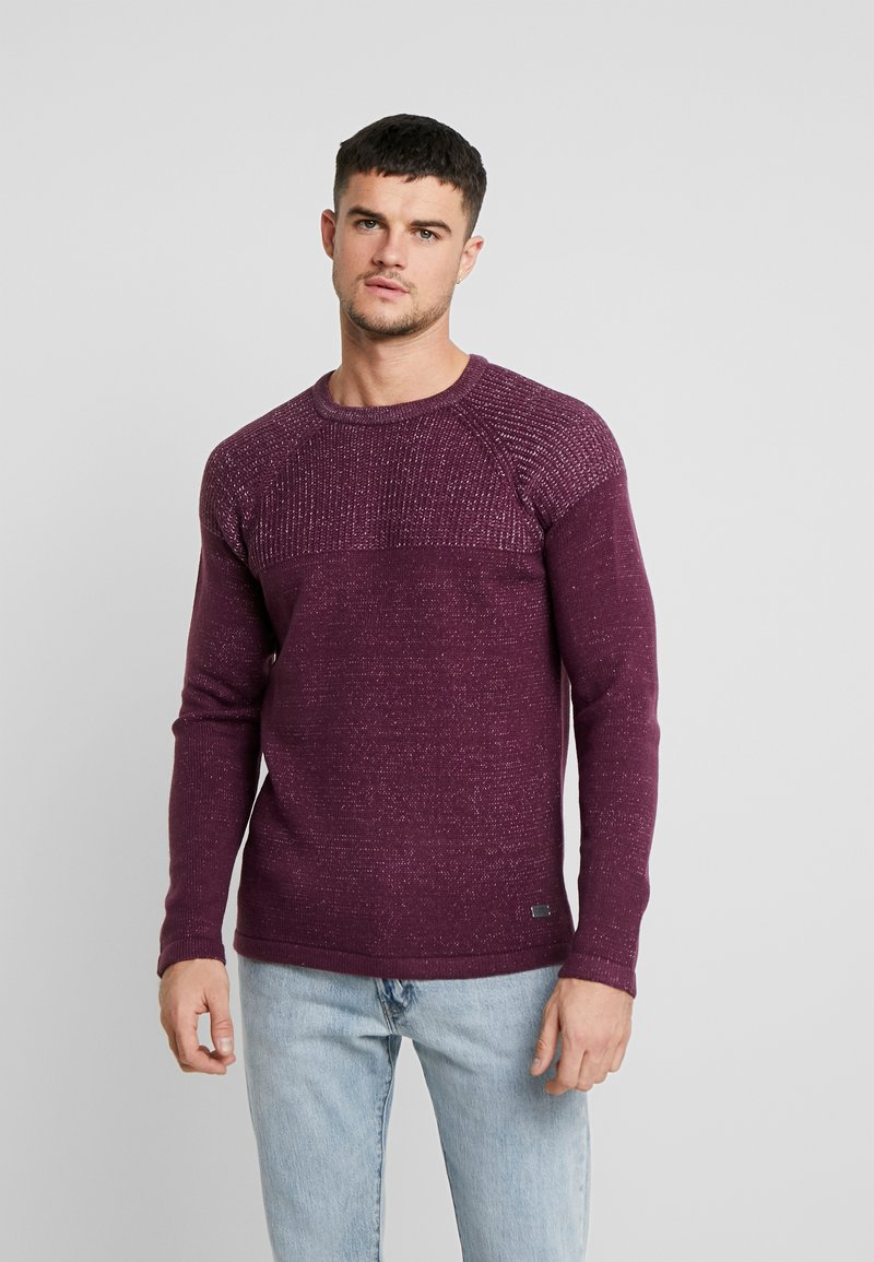 Only & Sons - ONSPEER PLATED CREW NECK - Trui - zinfandel