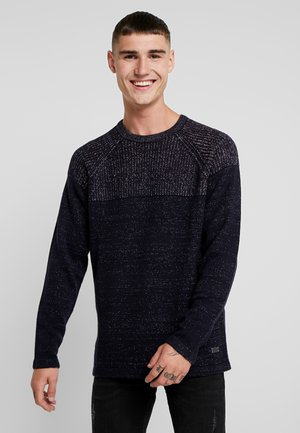 ONSPEER PLATED CREW NECK - Jumper - dark navy