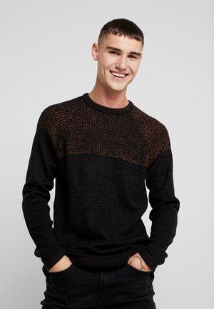 ONSPEER PLATED CREW NECK - Sweter - black