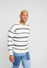 Only & Sons - ONSPERRY STRIPE  - Maglione - cloud dancer - 0