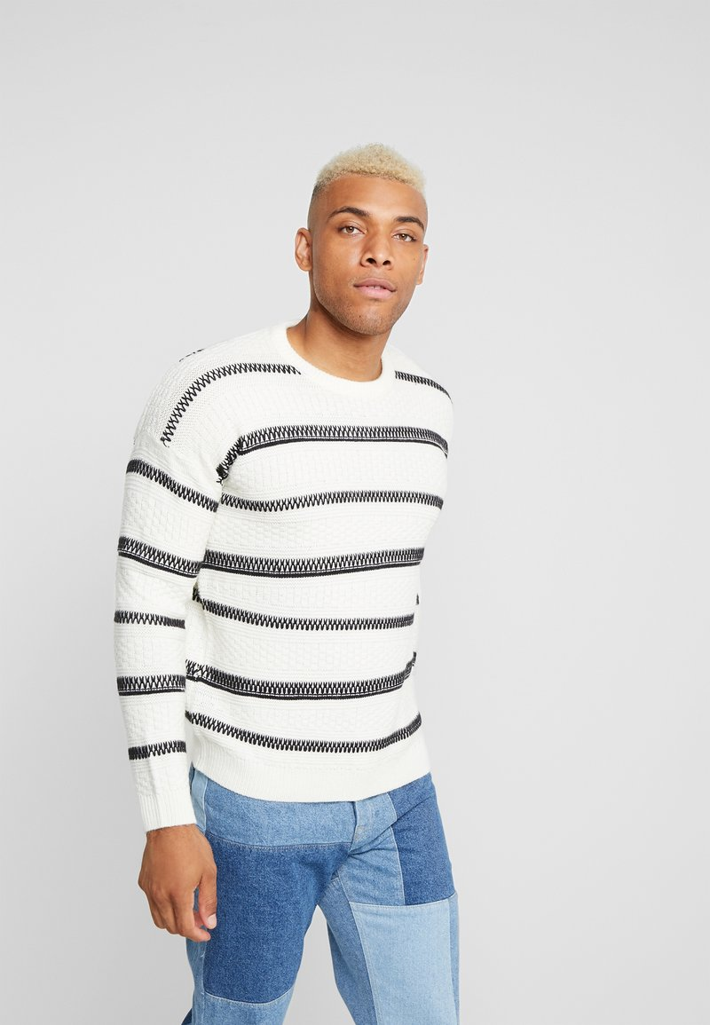 Only & Sons - ONSPERRY STRIPE  - Maglione - cloud dancer