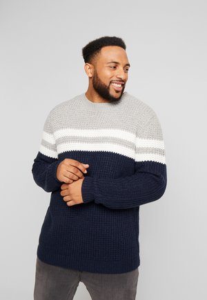 ONSLAZLO BLOCKED CREW NECK  - Neule - blue nights