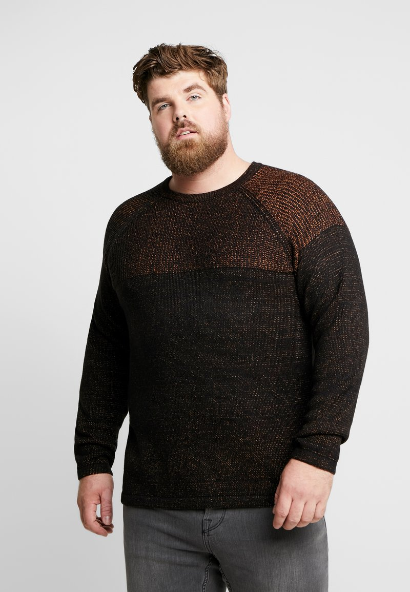 Only & Sons - ONSPEER 7 PLATED CREW NECK  - Sweter - black