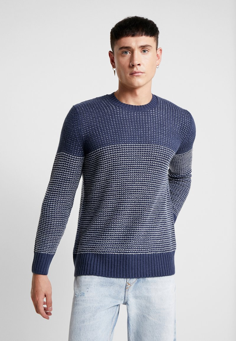 Only & Sons - ONSHELMIG BLOCKED - Sweter -  blues